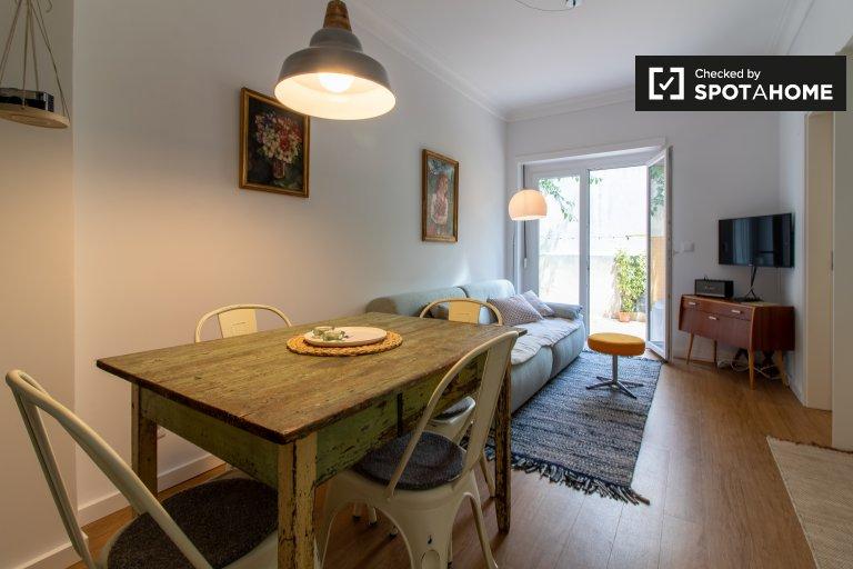 Fajne 2-pokojowe mieszkanie do wynajęcia w Santo Antonio w Lizbonie
