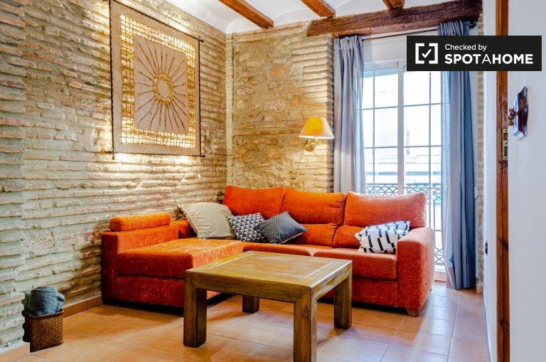 Apartamento de 1 quarto moderno para alugar em Extramurs, Valência