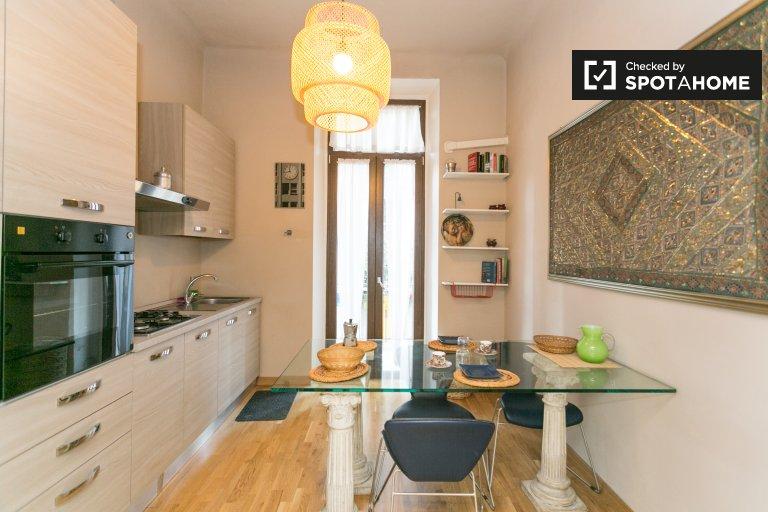 Acogedor apartamento de 1 dormitorio en alquiler en Maciachini, Milán