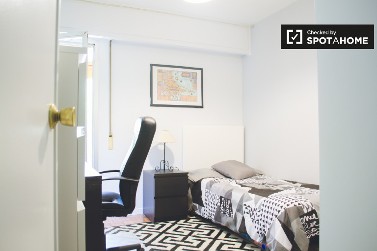 Bedroom 1 - single bed and terrace