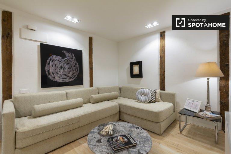 Elegante 1-Zimmer-Wohnung zur Miete in La Latina, Madrid