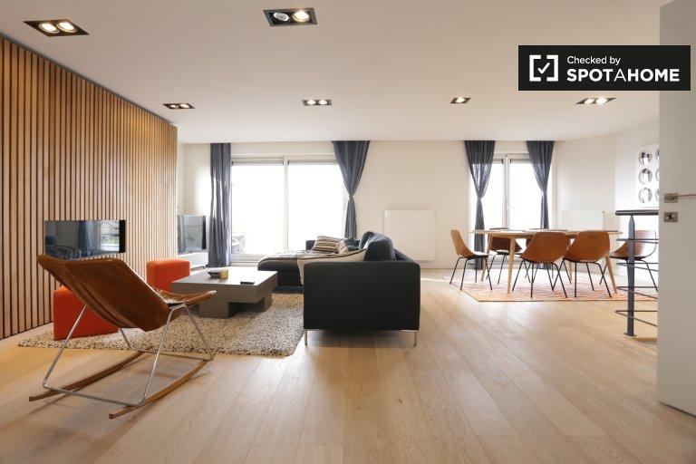 Apartamento de 2 quartos com terraço para alugar em Uccle, Bruxelas