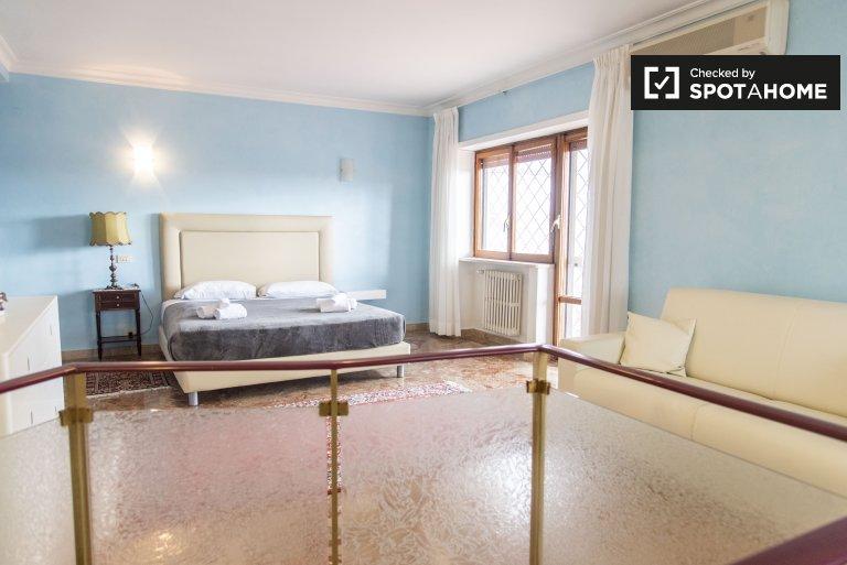 Zimmer in 3-Zimmer-Wohnung zur Miete in Balduina, Rom
