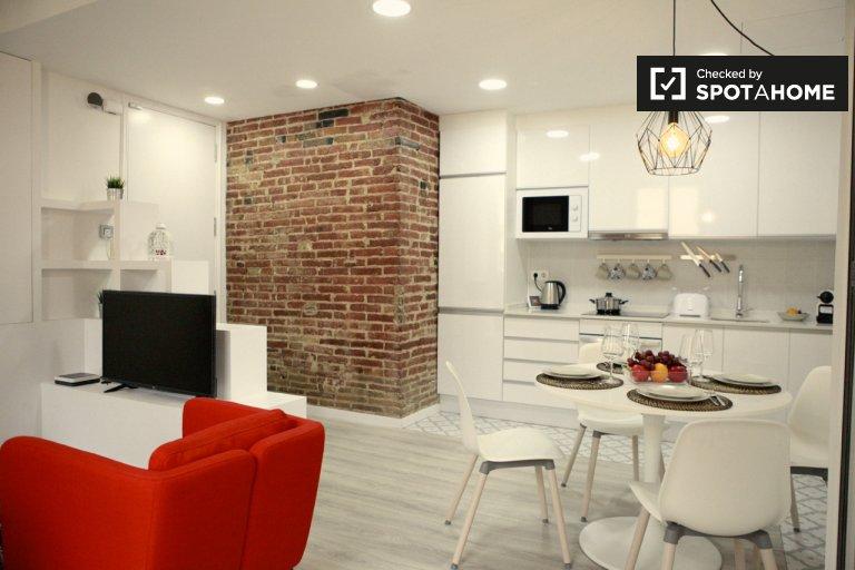 Elegante apartamento de 1 dormitorio en alquiler en Poble-sec, Barcelona