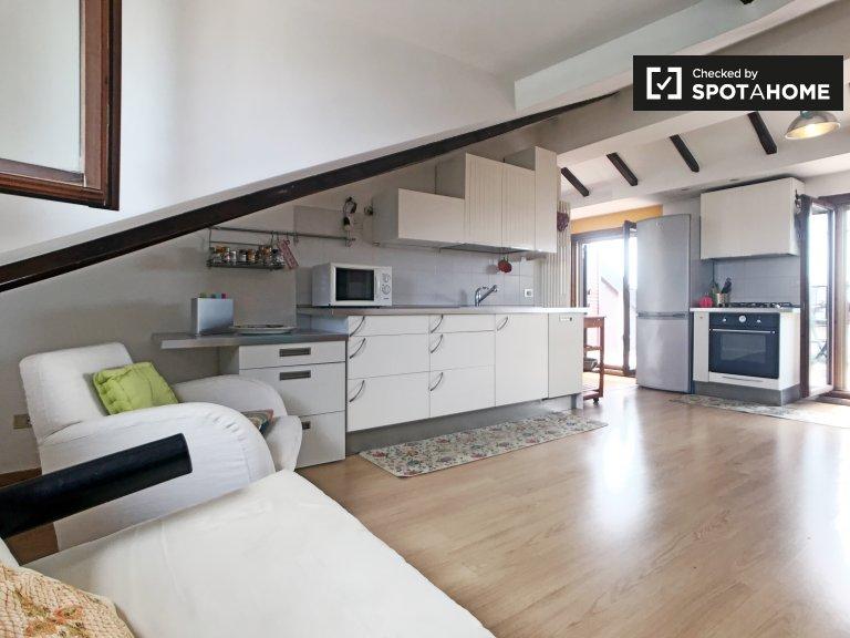 San Siro, Milano'da kiralık teraslı 2 yatak odalı daire