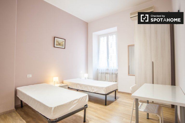 Shared room for rent 2-bedroom apartment in Centocelle Rome