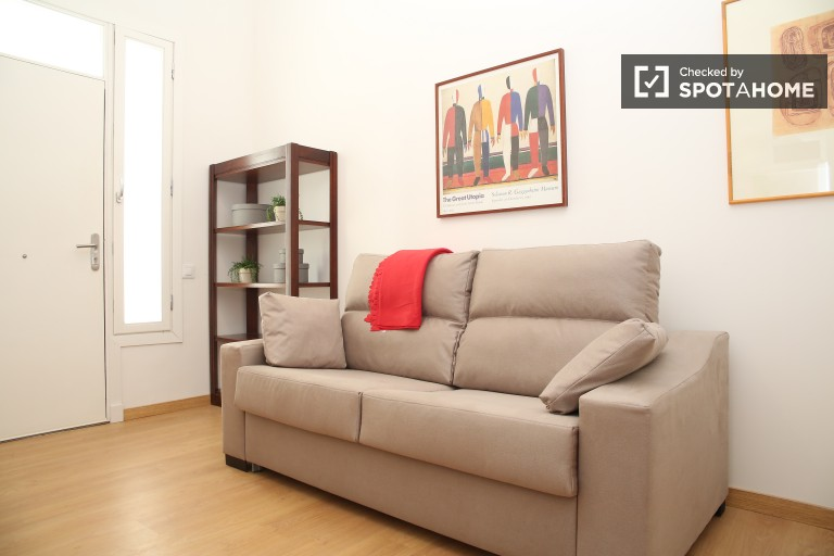 Cozy recently renovated 1-bedroom apartment in San Bernardo