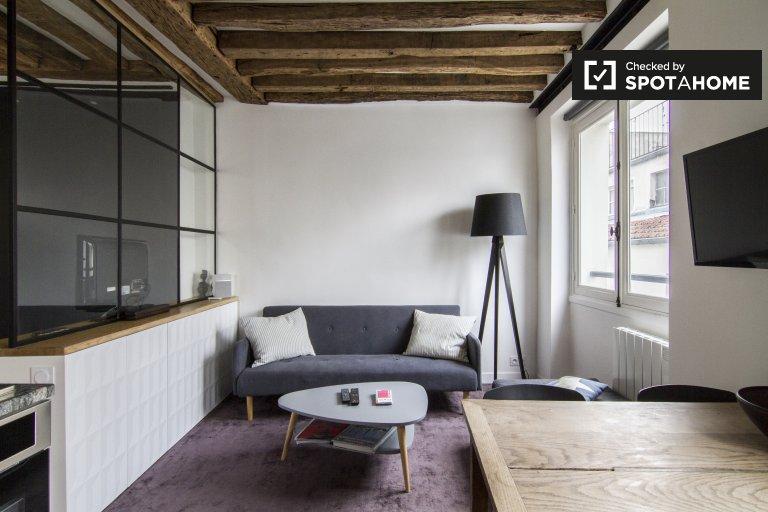 Stylish studio apartment in 2nd arrondissement, Paris
