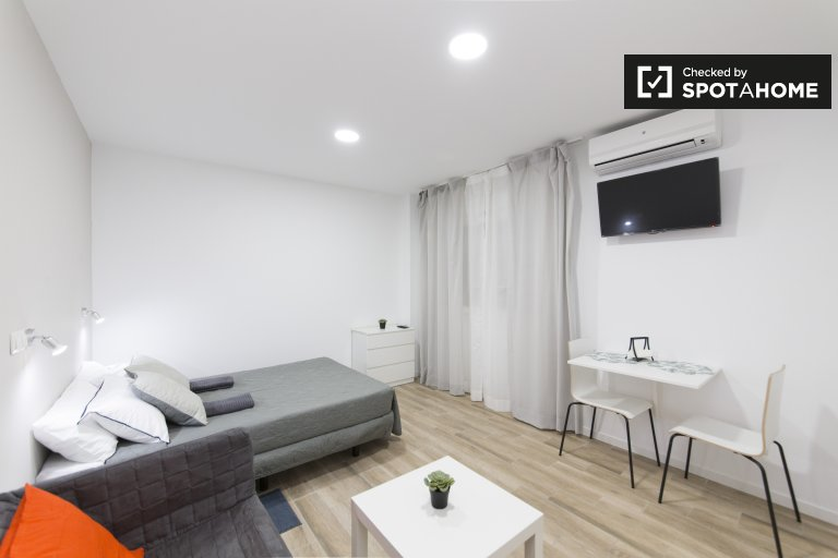 Stylish studio apartment for rent in Malasaña, Madrid