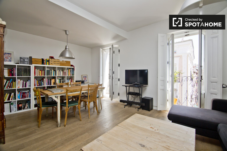 Beautiful 2-bedroom apartment for rent in Malasaña Madrid