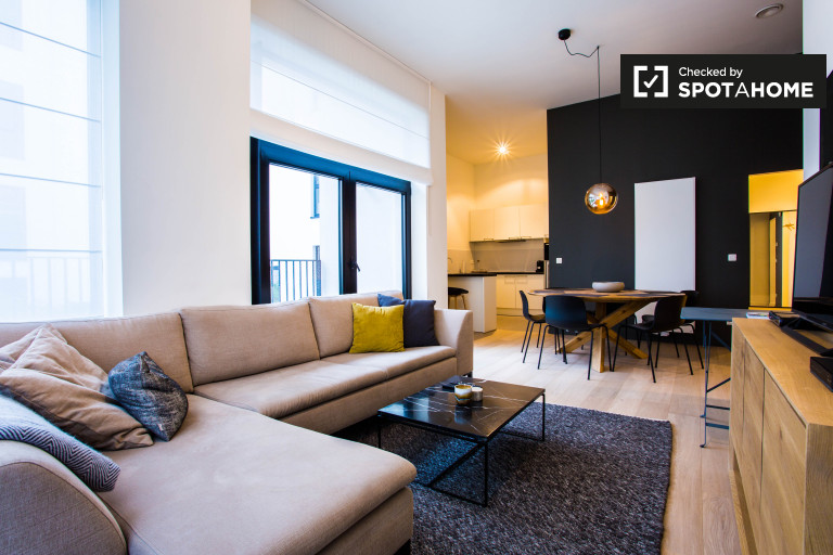 Brüksel Şehir Merkezinde kiralık 3 odalı şık daire
