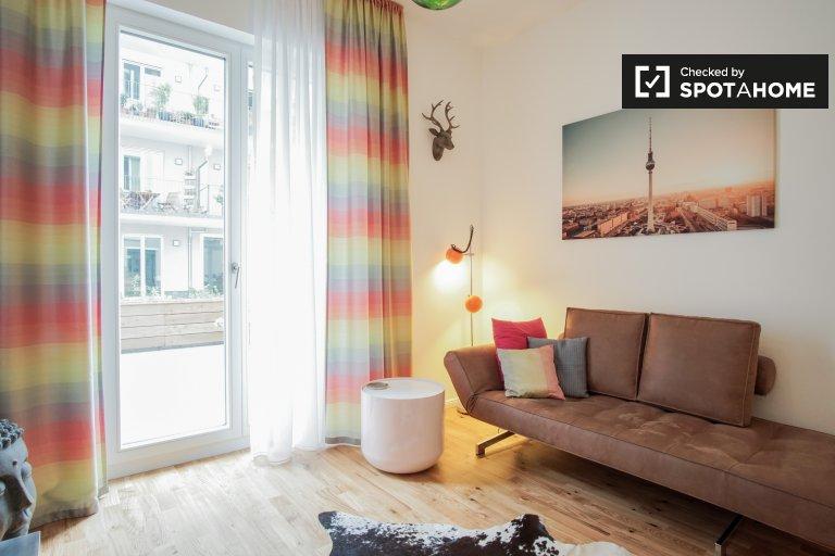 Stunning 1-bedroom apartment for rent in Friedrichshain, Berlin