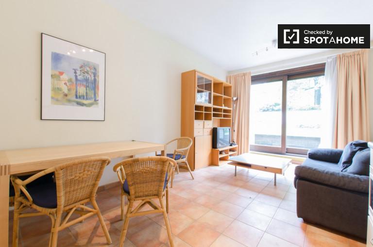Apartamento luminoso de 1 dormitorio en alquiler en el centro de Bruselas