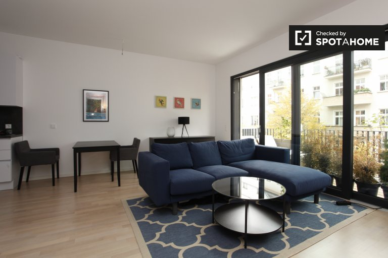 Chic 1-bedroom apartment for rent in Friedrichshain