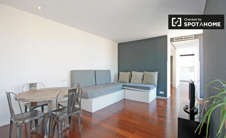 1-bedroom apartment with terrace for rent in Gotico