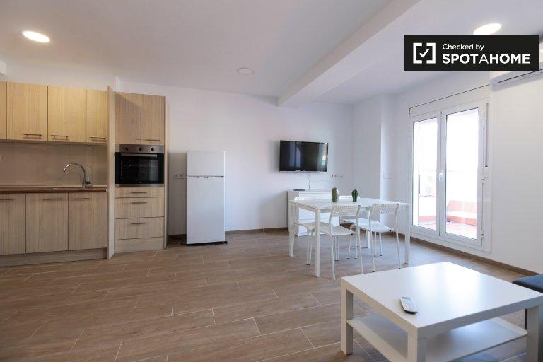 Geräumige 1-Zimmer-Wohnung zur Miete in Sants, Barcelona