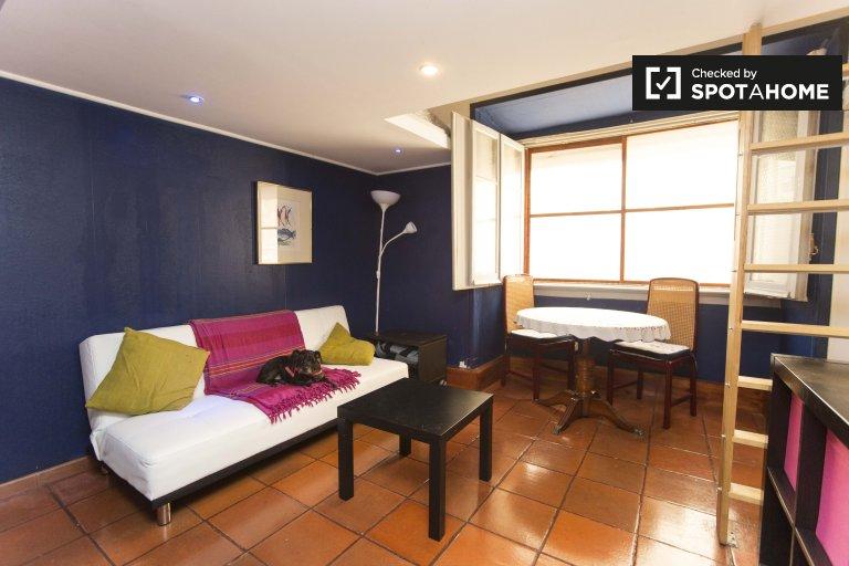 Avenidas Novas'ta 4 yatak odalı dairede geniş oda