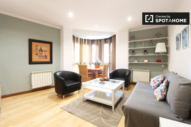 Apartamento de 2 quartos para alugar perto do parque do Retiro, Madrid