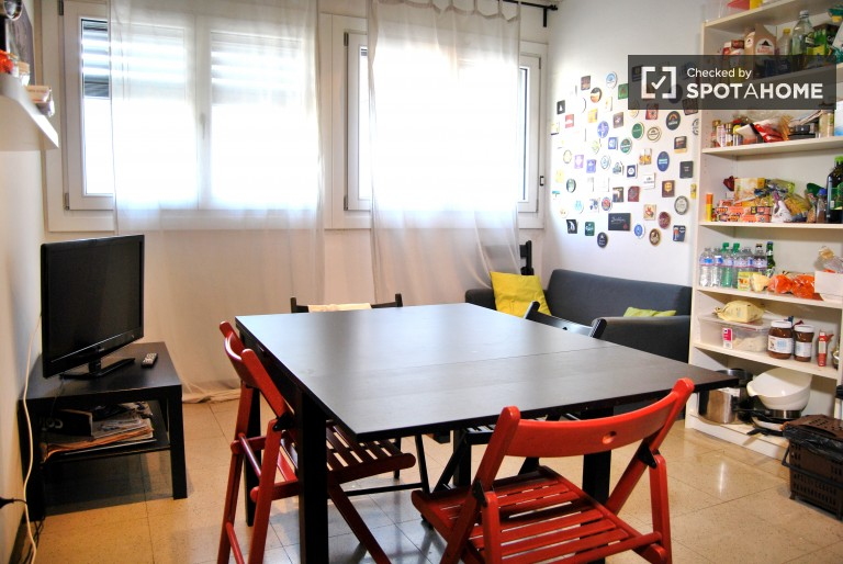 Double Bed in Rooms in a 4 bedroom apartment on Corso Vercelli