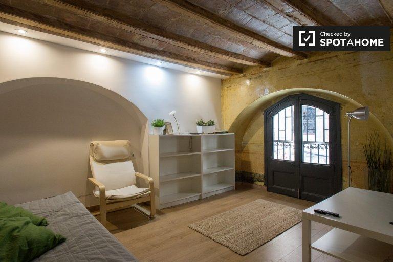 Wunderschöne Studio-Wohnung zur Miete in El Raval, Barcelona