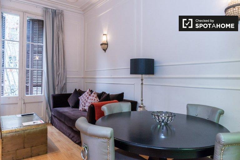 Elegancki 1-pokojowy apartament do wynajęcia, Eixample