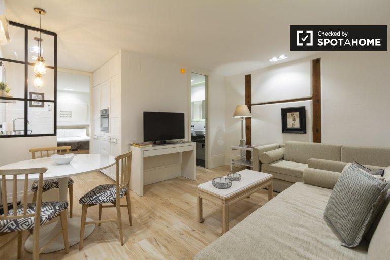 Moderne 1-Zimmer-Wohnung zur Miete in La Latina, Madrid