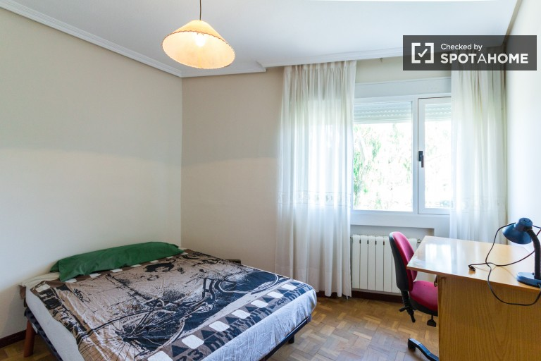 Double Bed in Rooms for rent in 3-bedroom apartment near the Complutense University of Madrid