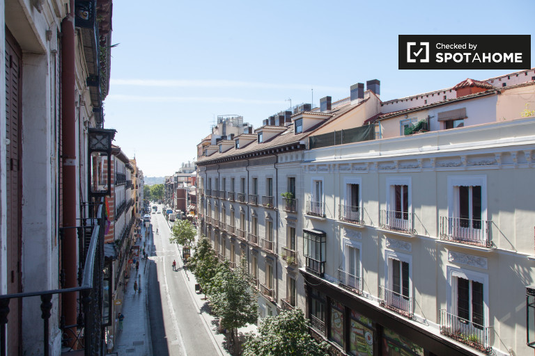 Spacious room in shared apartment in Puerta del Sol, Madrid