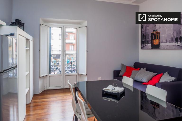 Soleado apartamento de 1 dormitorio en alquiler en Washington, Milán