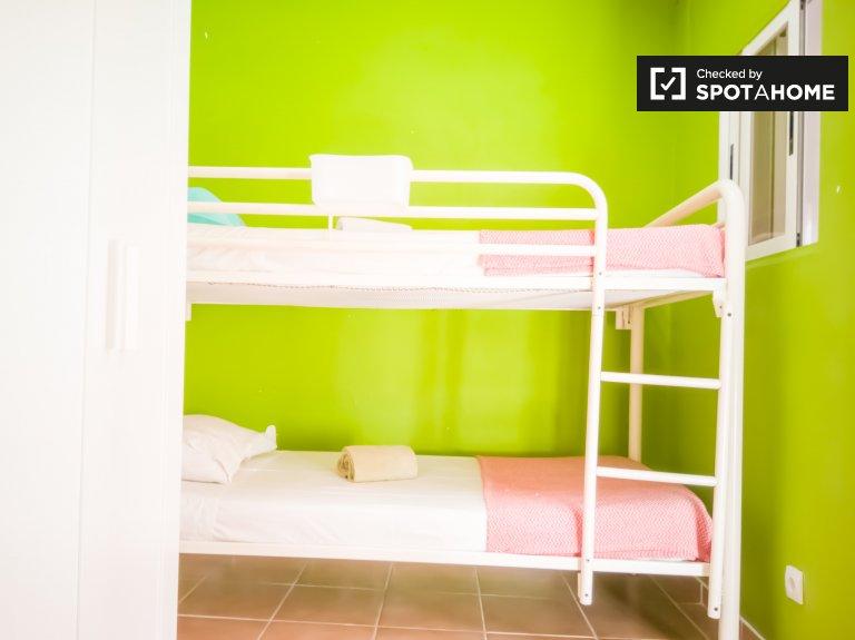 Jasny wspólny pokój w mieszkaniu z 2 sypialniami w Bairro Santa Rita