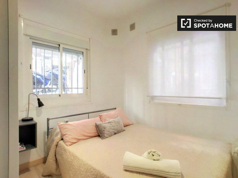 Stanza luminosa in affitto, appartamento con 2 camere da letto, Guindalera, Madrid