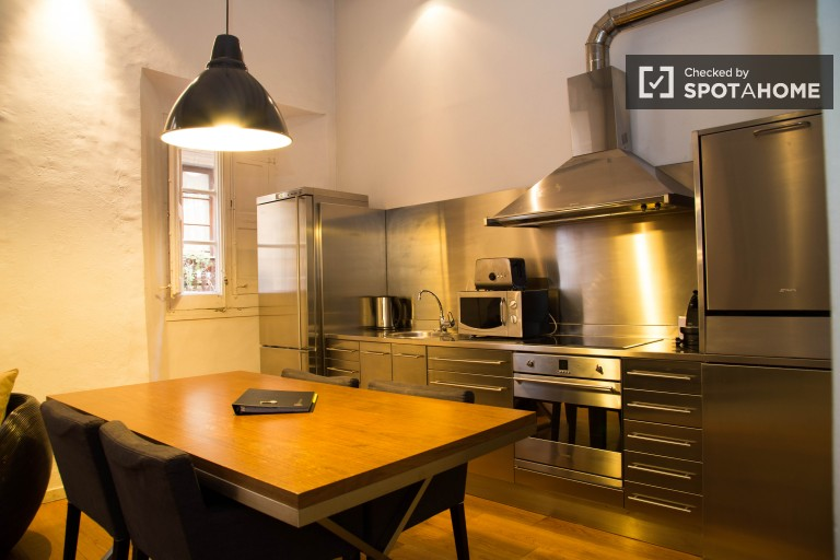 Comfortable 1-bedroom apartment in Barri Gòtic, Barcelona
