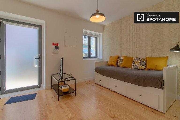 Acolhedor apartamento de estúdio para alugar em Belém, Lisboa