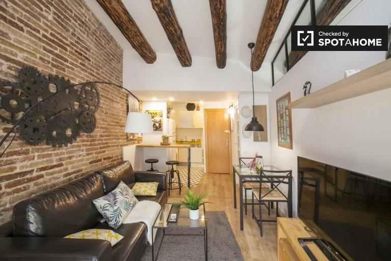 Affascinante appartamento con 1 camera da letto in affitto a El Raval, Barcellona