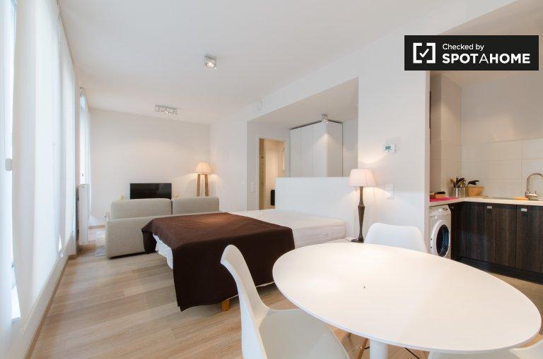 Promieniujący apartament typu studio do wynajęcia w Saint Josse, Bruksela