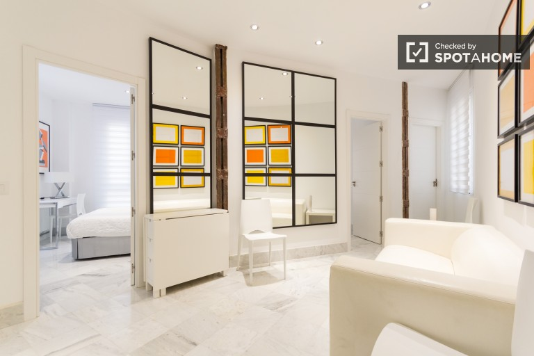 Stylish 3 bedroom apartment near Embajadores rail station in Acacias, Madrid