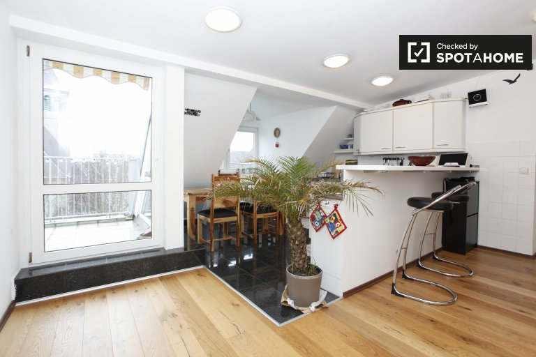 Spacious 1-bedroom apartment with terrace for rent in Tempelhof