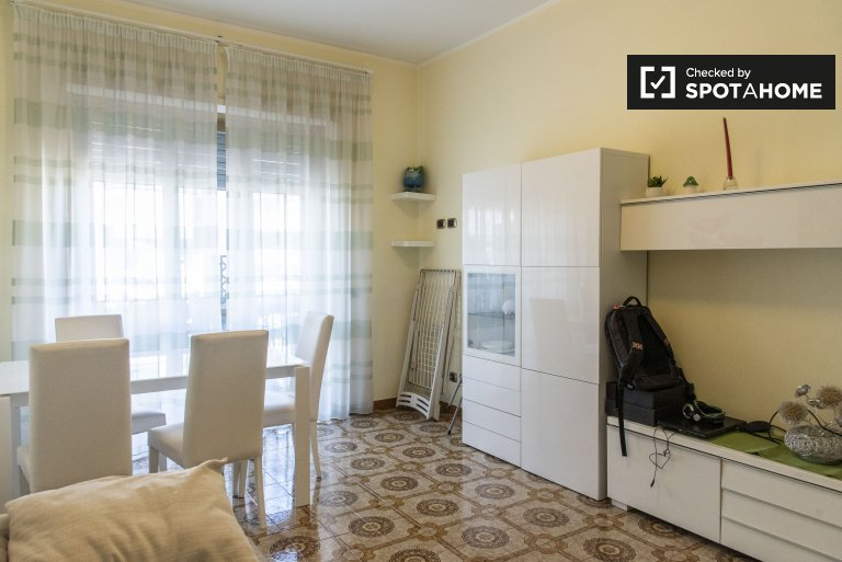 Bright 1-bedroom apartment for rent in Ostiense, Rome