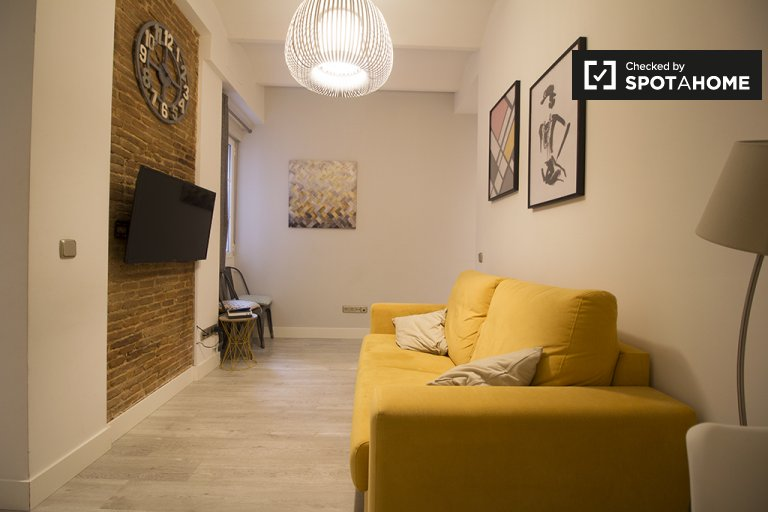 Stylish 1-bedroom apartment for rent in Centro, Madrid
