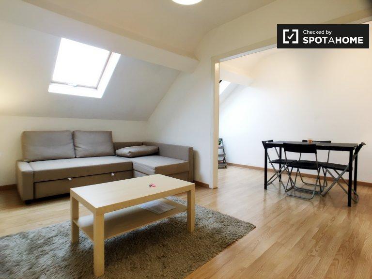 Chic appartement 1 chambre à louer à Schaerbeek, Bruxelles