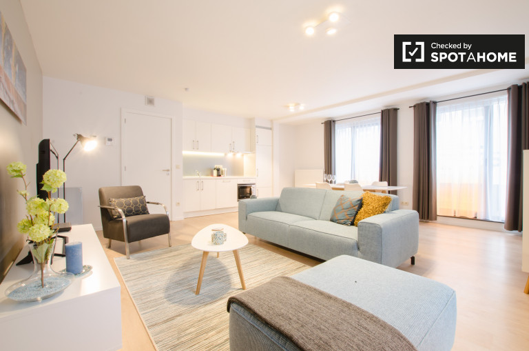 Nowoczesne 1-pokojowe mieszkanie do wynajęcia w Saint Josse, Bruksela
