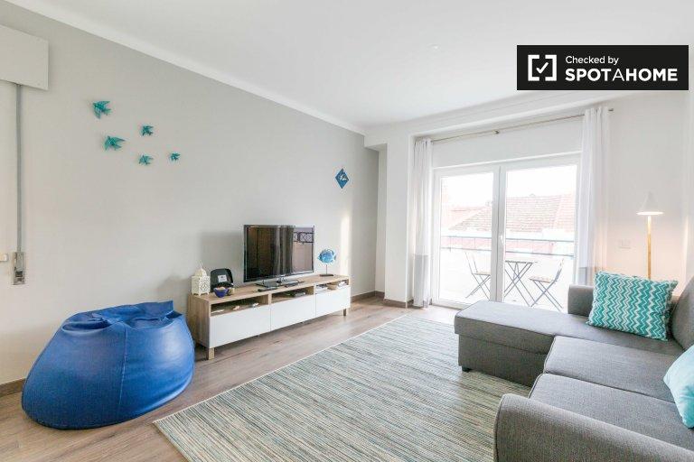 1-pokojowe mieszkanie do wynajęcia w Costa da Caparica w Lizbonie