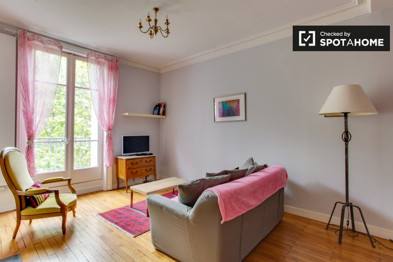 Gorgeous 1-bedroom apartment with balcony for rent in Guillotière