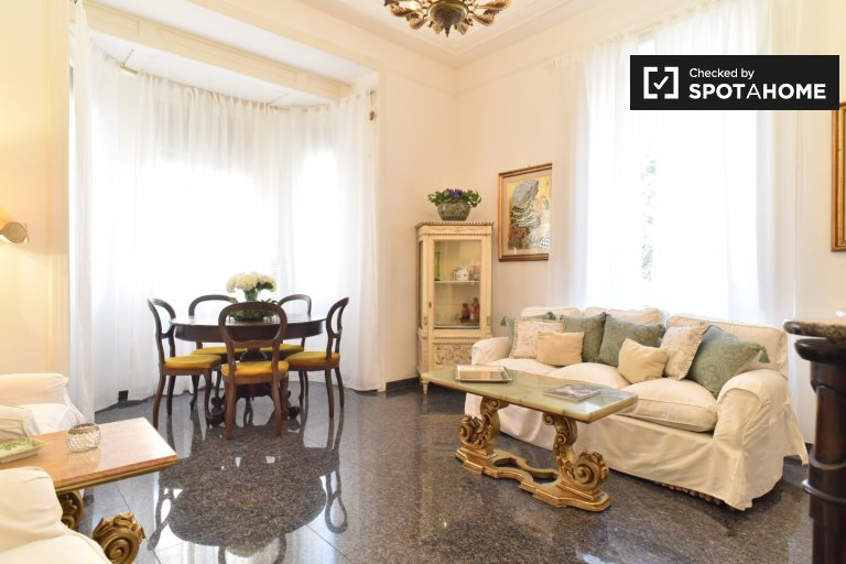 Luxury 3 bedroom apartment for rent in Nomentano, central Rome