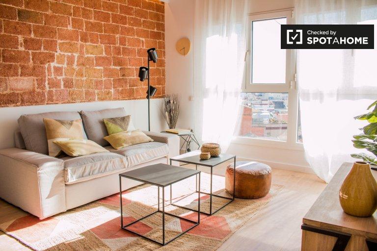 Uroczy 2-pokojowy apartament do wynajęcia w Gràcia, Barcelona