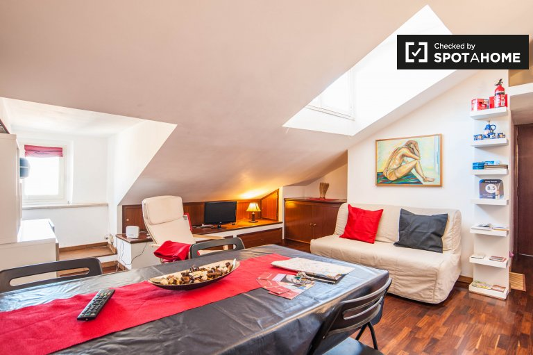 Spacious 1-bedroom apartment for rent in Centro Storico Rome