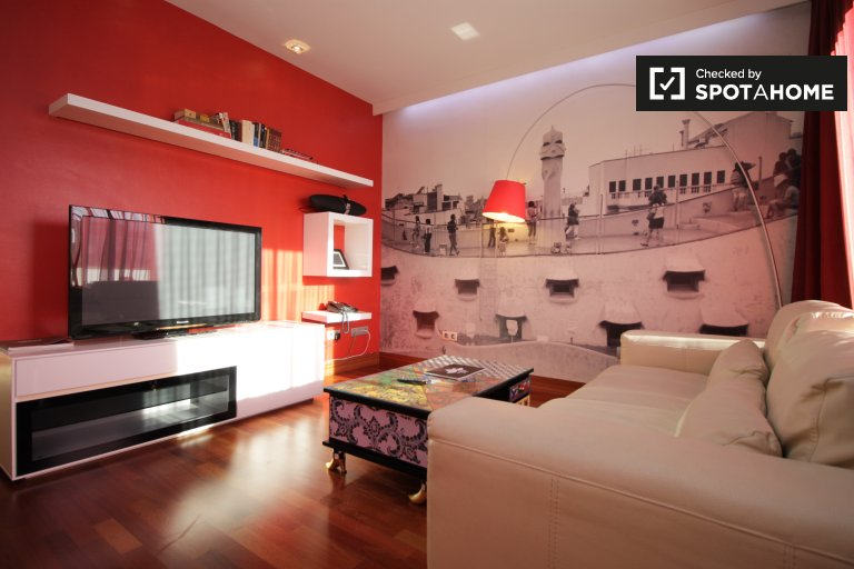 Lovely 3-bedroom apartment for rent in Eixample, Barcelona