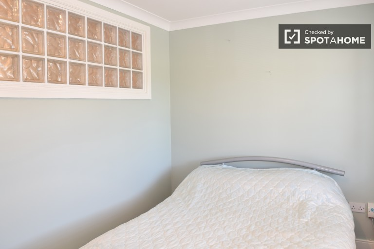 Bedroom 1 with double bed, fully furnished