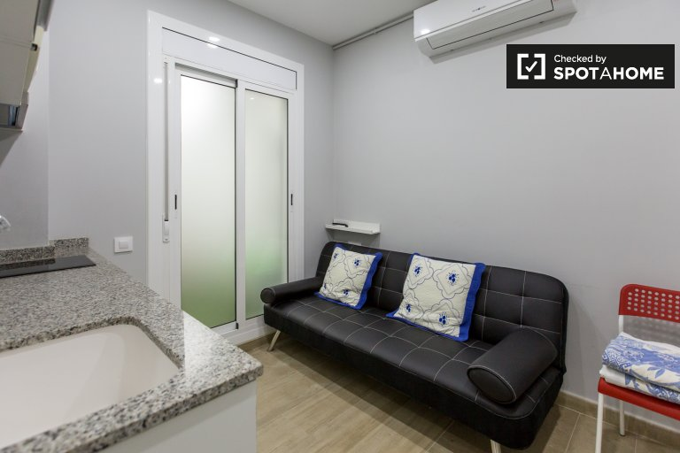Renovated studio apartment for rent in Poble-sec, Barcelona
