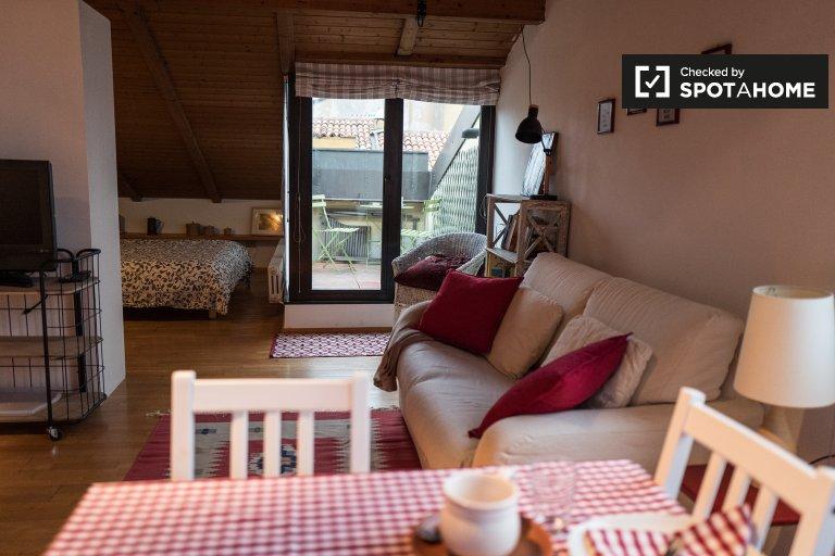 Modernes Studio-Apartment zur Miete in Irnerio, Bologna